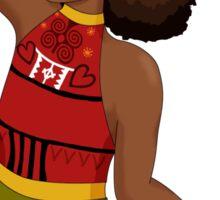 Black and Beautiful Hula Hooper Sticker