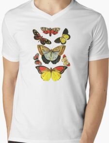 Vintage Butterfly Collection Mens V-Neck T-Shirt