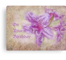 on your birthday for cheryl Metal Print