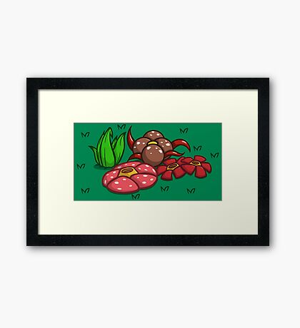 This Garden is Odd... ish Framed Print