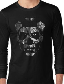 IN YOUR FACE - distressed white Long Sleeve T-Shirt
