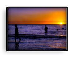 Warm Sun..Cool Sea... Canvas Print