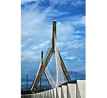 Zakim Bunker Hill Bridge Photographic Print