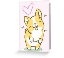 Corgi Valentine -<3- Greeting Card