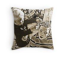 Frankie Stein Throw Pillow