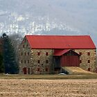 Snyder&#x27;s Stone Barn ...After A March Sunset by Gene Walls