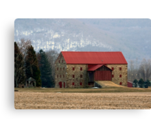 Snyder's Stone Barn ...After A March Sunset Canvas Print