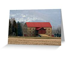 Snyder's Stone Barn ...After A March Sunset Greeting Card