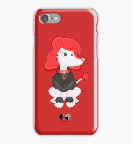 Poodle Black Widow by Centtaro iPhone Case/Skin