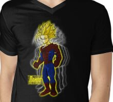 Spider Gohan Golden font Reflentions Mens V-Neck T-Shirt