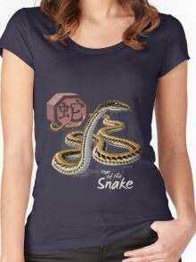 Year of the Snake Card Women's Fitted Scoop T-Shirt