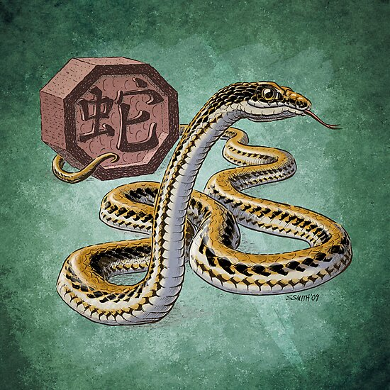 Year of the Snake (for dark shirts) by Stephanie Smith