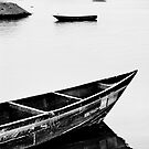 Boats in Uganda by A. Duncan