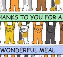 Thanks for a great meal. Sticker