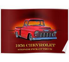 1956 Chevrolet Stepside Pick-Up Truck Poster