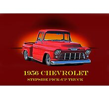 1956 Chevrolet Stepside Pick-Up Truck Photographic Print
