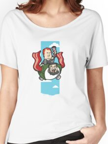 Smith And The Buffy Man On Wings of Swine Women's Relaxed Fit T-Shirt