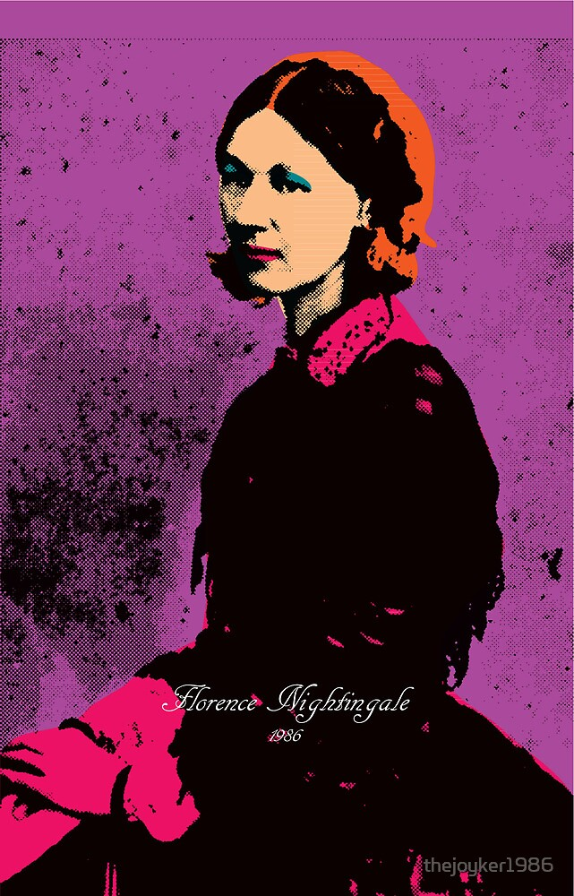 Florence Nightingale with Andy Warhol Pop Art Style by thejoyker1986