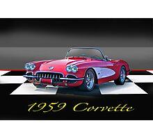 1959 Corvette Roadster Photographic Print