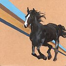 Black horse by NancyBenton