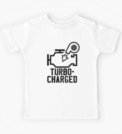 Turbocharged check engine light Kids Tee