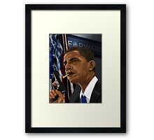Barack Obama: Commander in Chief of Coolness & Badassery Framed Print