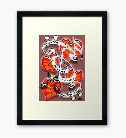 Together We Make Beautiful Music Poster Framed Print