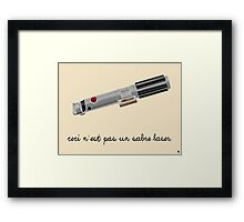 This is Not a Light Saber Framed Print