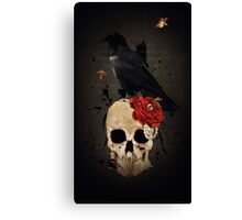 Nevermore - Crow Digital Painting by Amanda Jeffrey Canvas Print