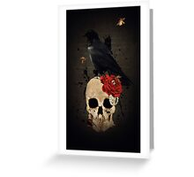 Nevermore - Crow Digital Painting by Amanda Jeffrey Greeting Card
