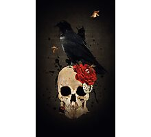 Nevermore - Crow Digital Painting by Amanda Jeffrey Photographic Print