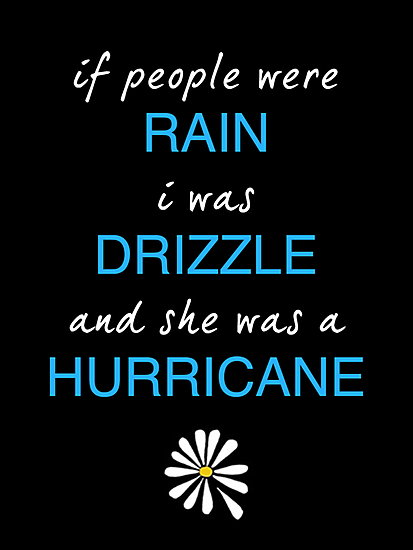 "Looking For Alaska by John Green ""If People Were Rain, I Was Drizzle And She Was a Hurricane"" by runswithwolves"