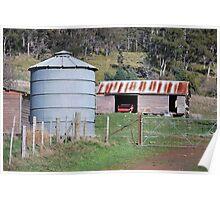 Old grain silo Poster