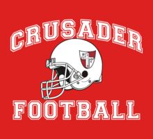 Crusader Football - White One Piece - Long Sleeve