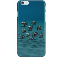 Shoal of Daft Piranha with old Duffer Fish iPhone Case/Skin