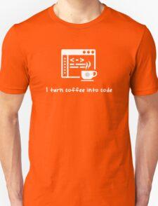 I turn coffee into code T-Shirt
