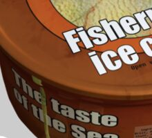 Tasty Tub of Grumpy Trawler Fisherman's Ice-cream Sticker