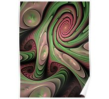 Swirling fun, abstract fractal design Poster