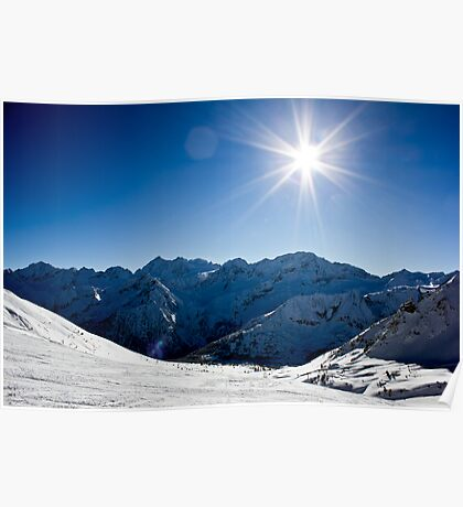 'Winter in the Dolomites - Sun Soaked Snow' Poster