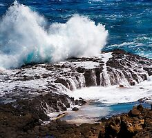 Waves Crashing at The Nobbies, Phillip Island by haymelter