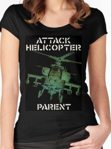 Attack Helicopter Parent Women's Fitted Scoop T-Shirt