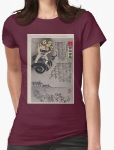 Raijin the God of Thunder frightens the Russians out of Tokuriji  near Nanshan 002 Womens Fitted T-Shirt