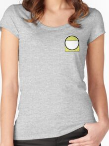 Cartoon Face 2 - Blonde Girl [Small] Women's Fitted Scoop T-Shirt