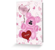 Teddy Valentines .. card Greeting Card
