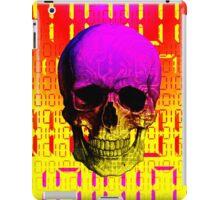 Skull circuit in a digital code. iPad Case/Skin