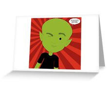 euro extraterrestre Greeting Card
