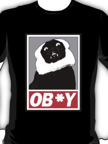 Ob*y breaded cat T-Shirt