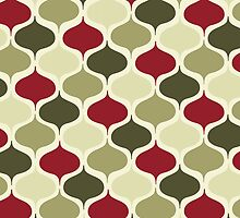 Retro Mod Abstract Christmas by pugmom4