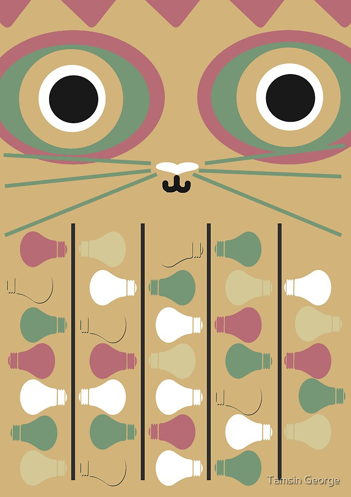 Cat Poster by Tamsin George