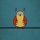 Funny Cartoon Horned Owl Case by Boriana Giormova